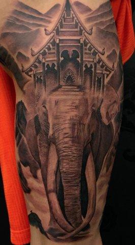 tattoo - elephant