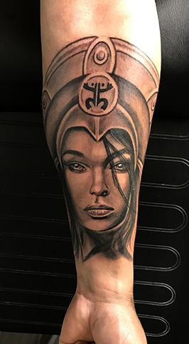 tattoo - queen face